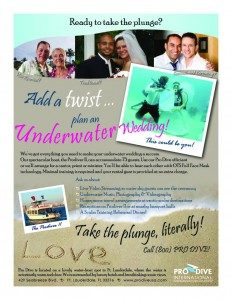 underwater wedding flyer, Underwater Weddings: It's Official - Cantor Debbi Ballard Certified by ProDiveUSA
