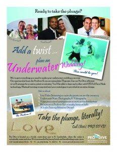 underwater wedding flyer, Underwater Weddings: It's Official - Cantor Debbi Ballard Certified by ProDiveUSA