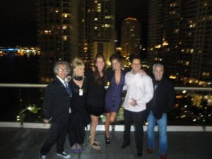 Ronni, Maude, and Friends at their Interfaith wedding at the Viceroy Hotel, in downtown Miami, Brickell Key, Florida