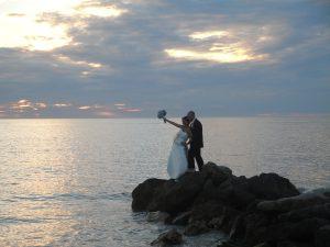 Jewish Interfaith Wedding Couple in Naples, FL