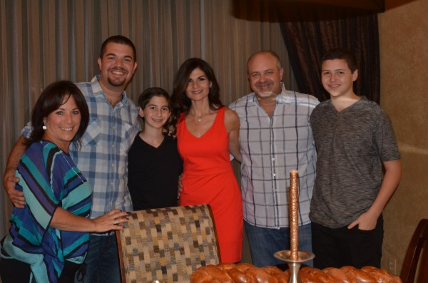 A very special Shabbat dinner with a very special family before Ben's Bar Mitzvah in South Florida