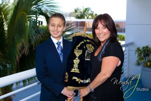 Cantor and Rabbi Debbi with her Bar Mitzvah Student in Fort Lauderdale, Florida
