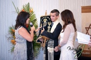 Cantor Debbi passing the Torah – a Bar Mitzvah rite of passage, officiating Bar Mitzvah and Mat Mitzvah ceremonies in South Florida and Israel