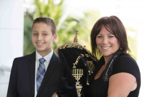 Cantor Debbi with Bar Mitzvah student