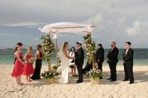 Larissa and Michael – Beach chuppah, Interfaith wedding