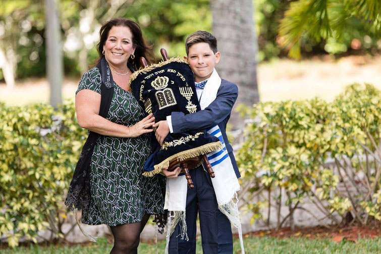 Bar Mitzvah boy with Cantor Debbi Ballard