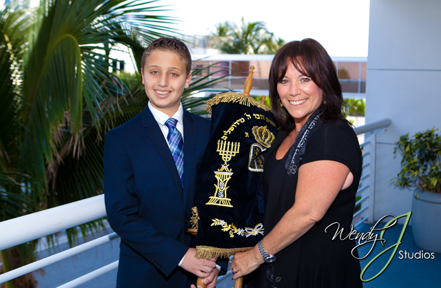 Cantor Debbi Ballard with Bar Mitzvah student