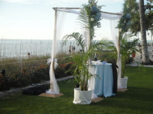 Chuppah for Jewish Interfaith Wedding in Naples, FL