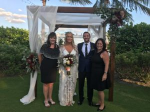 Jewish Interfaith wedding ceremony with couple and Co-Wedding Officiant