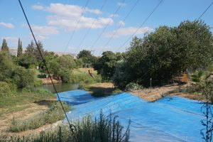 Zipline in Jordan River on Destination Bar Mitzvah in Israel