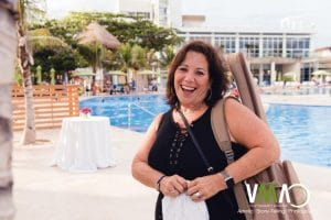 Cantor Debbi Ballard at Destination Bat Mitzvah in Playa del Carmen Mexico